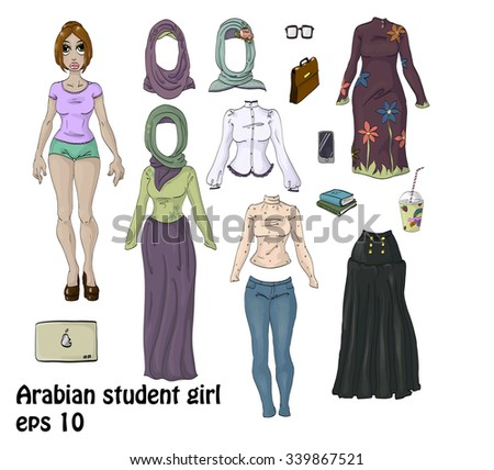 young student girl clothing set