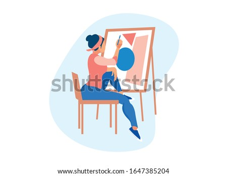 young talented woman artist