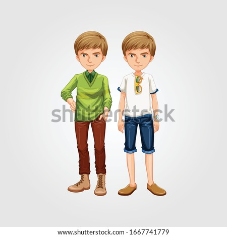 young teen boys with casual