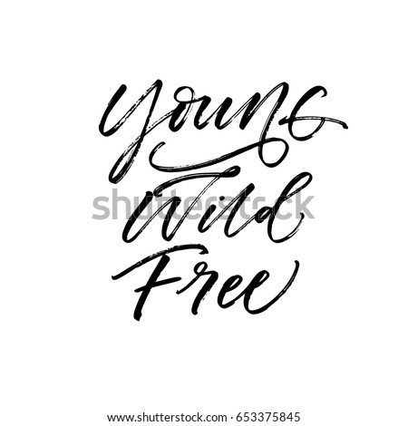 young wild free postcard ink