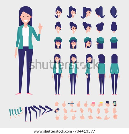 young woman character for your