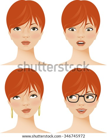 young woman displaying four