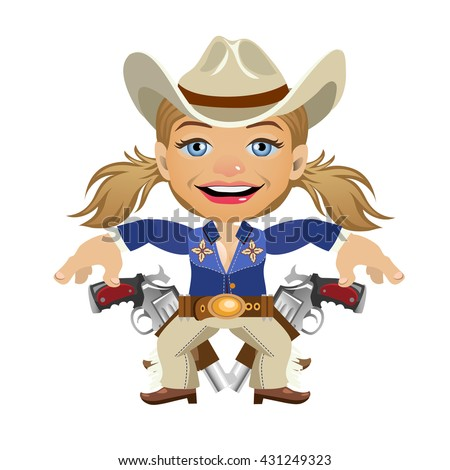 young woman dressed as a cowboy