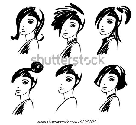 Free Hairstyle Icon Vector Download Free Vector Art Stock - Hairstyle in drawing