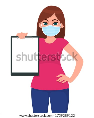 young woman in medical face