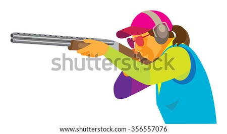 young woman is a marksman