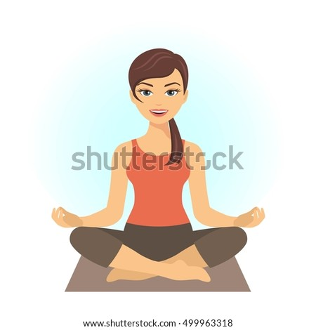 young woman sitting in yoga