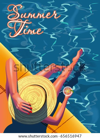 young woman sunbathing on the
