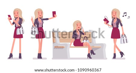 young woman with smartphone