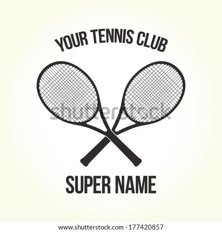 Your tennis club logo isolated vector
