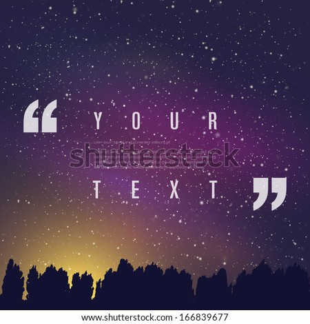 your text with quotation marks