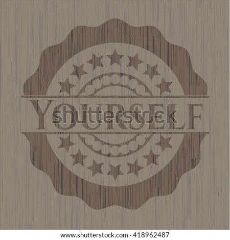 Yourself wood icon or emblem