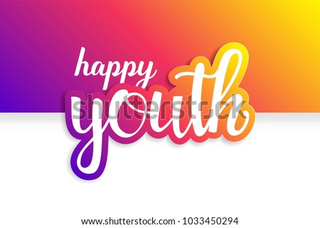 Youth Day. 12 August. Happy Youth Day. International Youth Day. Day of Youth. Blue Design.
