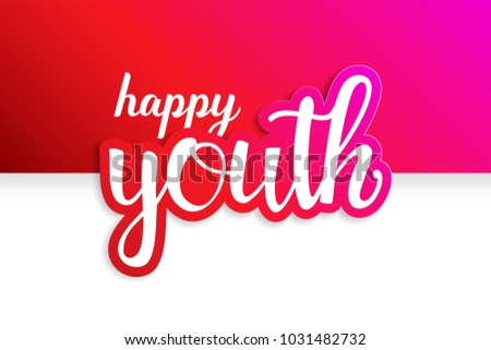 Youth Day. 12 August. Happy Youth Day. International Youth Day. Day of Youth. Red Design.