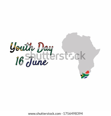 youth day south africa 16 june celebration. vector map south africa illustration.illustration logo youth day south africa. EPS10