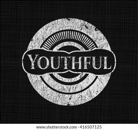 Youthful chalkboard emblem