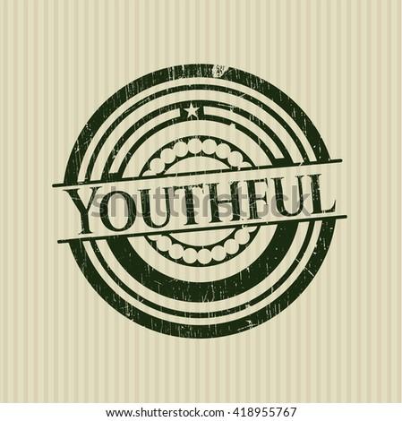 Youthful grunge stamp