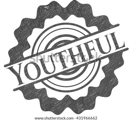 Youthful pencil strokes emblem
