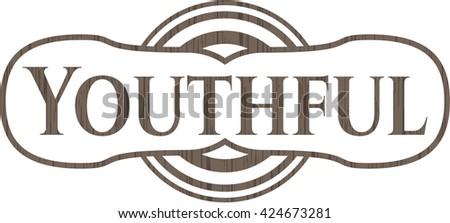 Youthful wooden emblem