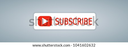 YouTube channel SUBSCRIBE button color with shadow. Subscribe sumbol, web, ui. Vector illustration. EPS 10