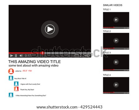 youtube vector browser window