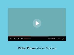 Youtube video player vector mockup. Premium quality.