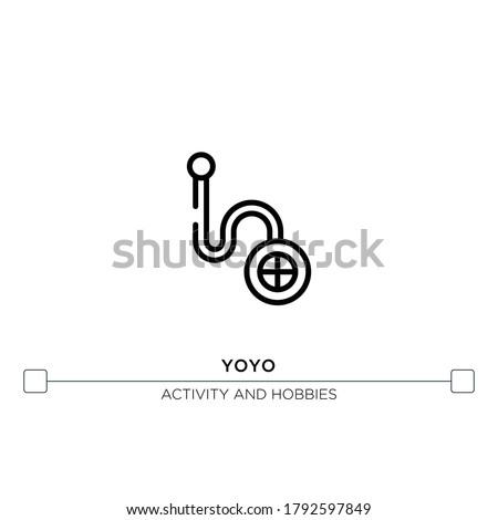 yoyo vector line icon simple