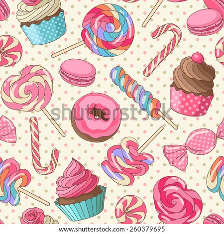 yummy colorful sweet lollipop