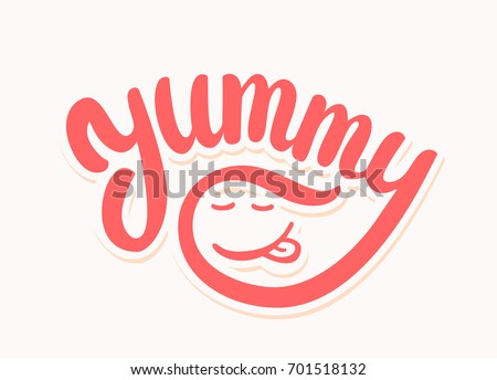 Yummy. Vector lettering.