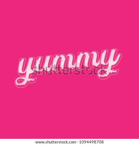 Yummy word Vector lettering #1094498708