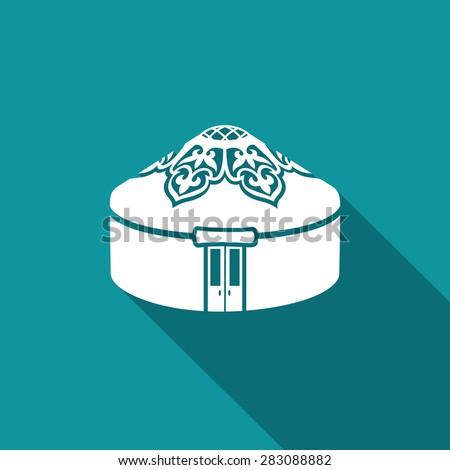 yurt icon vector illustration