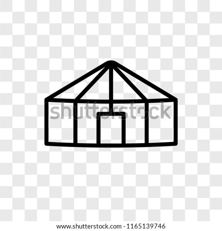 Yurt vector icon isolated on transparent background, Yurt logo concept