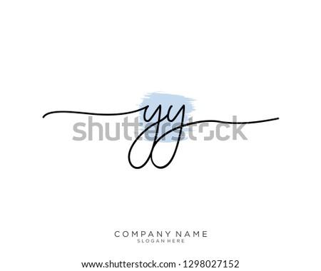 YY Y Y Initial handwriting logo template