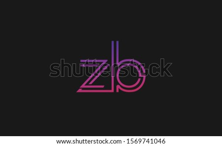 Z ,B ,ZB ,BZ Letter Logo Design with Creative Modern Trendy Typography Zdjęcia stock ©