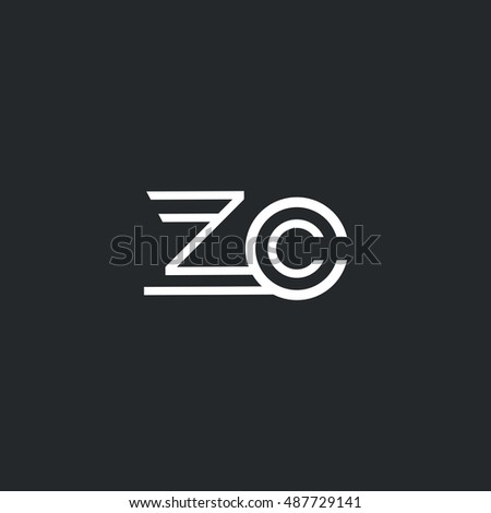 z   c letter logo  with