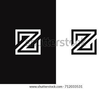 Z Letter Logo Concept Linear Style Creative Minimal Monochrome Monogram Emblem Design Template Graphic