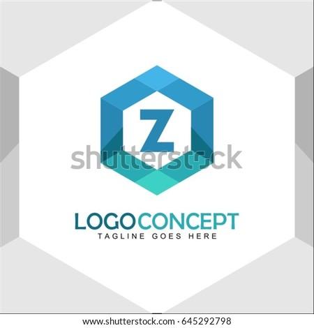 Z Letter Logo Icon Mosaic Pattern Design template Element