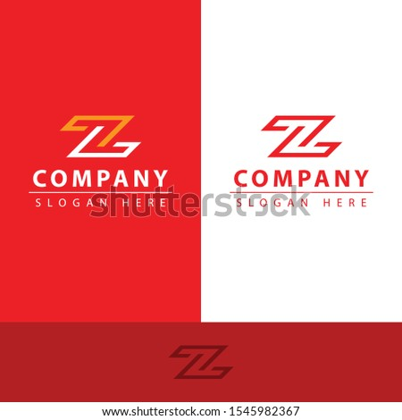 z letter logo with a very simple z letter shape there are two lines making its own uniqueness such as a luxurious shape and two very strong colors, making this design modern, unique, elegant, simple.