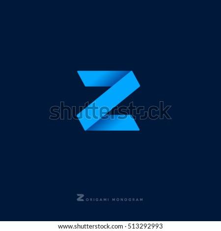 z monogram z letter z origami
