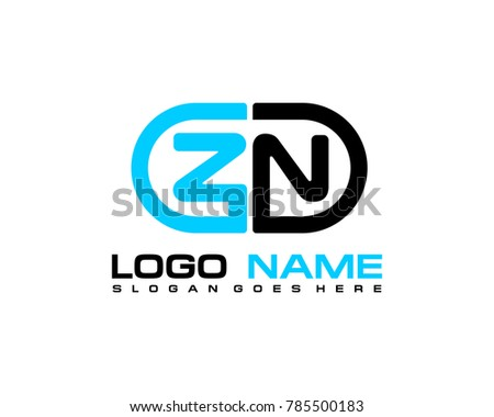 Z N initial logo template vexctor Stock fotó ©