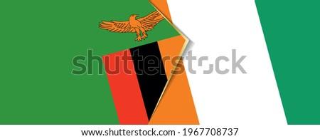 zambia and ivory coast flags