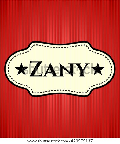 Zany colorful banner