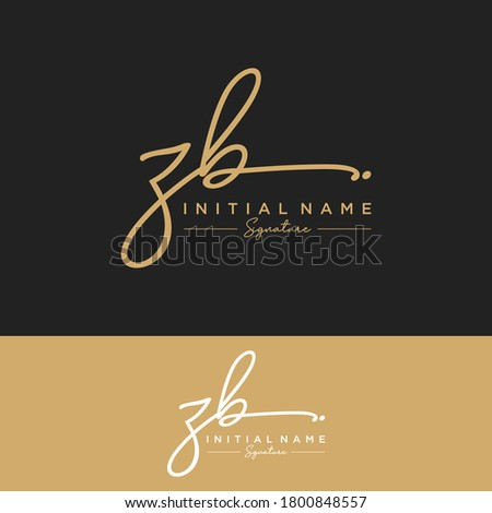 ZB Initial letter handwriting and signature logo. Zdjęcia stock ©