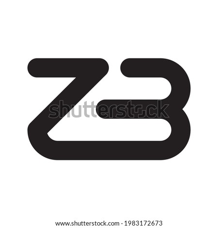 zb initial letter vector logo Zdjęcia stock ©