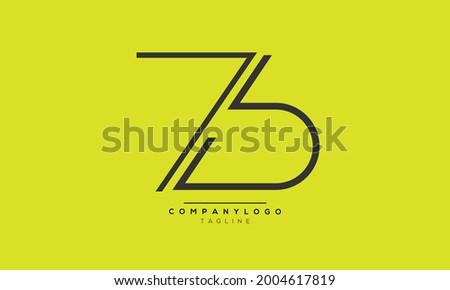 ZB initials monogram letter text alphabet logo design Zdjęcia stock ©