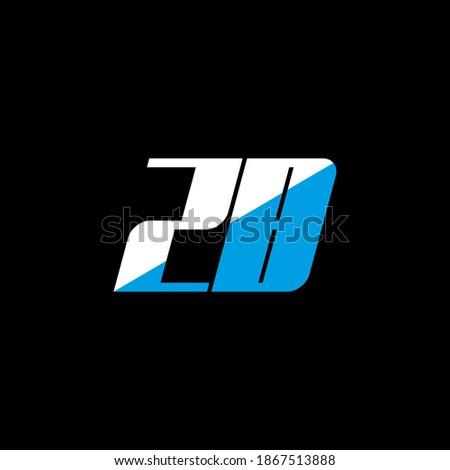 ZB letter logo design on black background. ZB creative initials letter logo concept. ZB icon design. ZB white and blue letter icon design on black background. Z B Zdjęcia stock ©