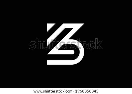 ZB letter logo design on luxury background. BZ monogram initials letter logo concept. ZB icon design. BZ elegant and Professional white color letter icon design on black background. Zdjęcia stock ©