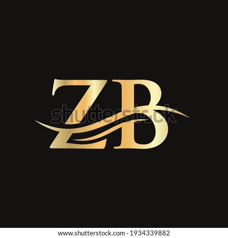 ZB Linked Logo for business and company identity. Creative Letter ZB Logo Vector with modern trendy Zdjęcia stock ©