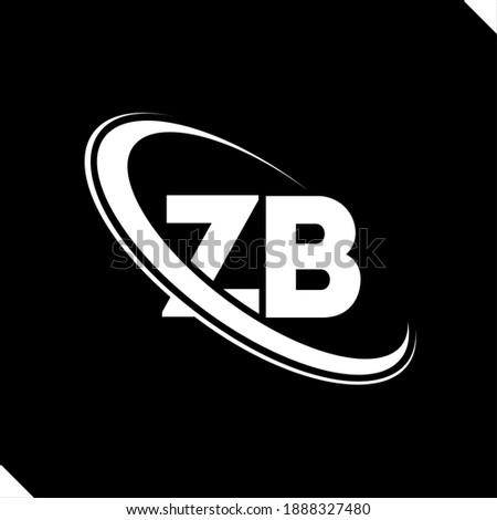 ZB logo. Z B design. White ZB letter. ZB Z B letter logo design. Initial letter ZB linked circle uppercase monogram logo. Zdjęcia stock ©