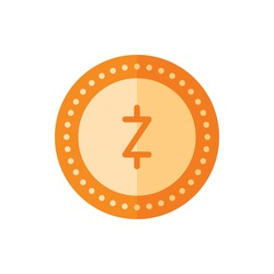 ZCash, Coin Flat Icon Logo Illustration Vector Isolated. Bitcoin, Cryptocurrency, and Mining Icon-Set. Suitable for Web Design, Logo, App, and Upscale Your Business.